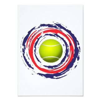 Cartão Azul do tênis e branco vermelhos