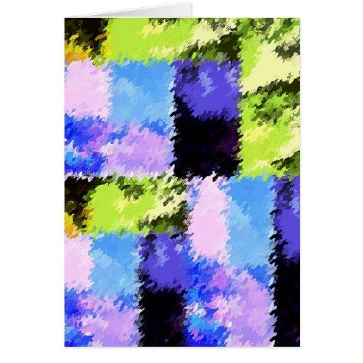 Cartão azul e roxo verde artística