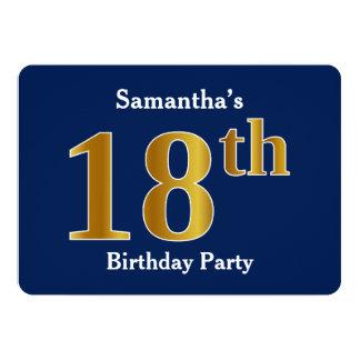 Cartão Azul, festa de aniversário do ouro do falso 18a +