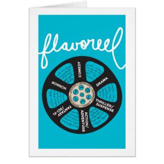 Cartão Azul Notecard de Flavoreel
