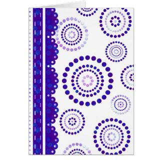 Cartão Azul violeta de ARTdeco da festão + seu backgr.