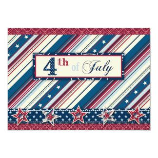 Cartão B do convite da listra da liberdade