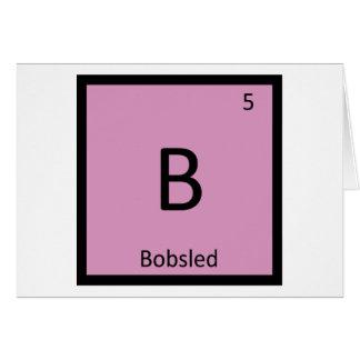 Cartão B - O Bobsled ostenta a mesa periódica da química