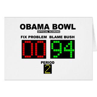 Cartão Bacia de Obama - contabilização oficial