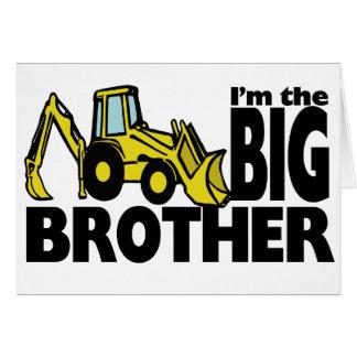 Cartão Backhoe do big brother