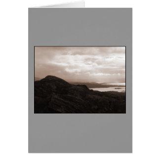 Cartão Baía de Bantry, estrada Ireland do túnel. Cores