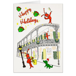 Cartão Bairro francês de Nova Orleães boas festas