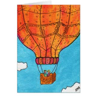 Cartão Balão de ar quente