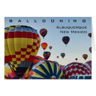 Cartão Balão de ar quente - Ballooning