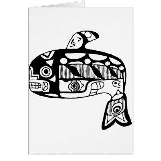 Cartão Baleia do Tlingit do nativo americano