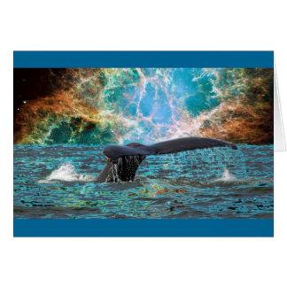 Cartão Baleia e Supernova
