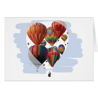 Cartão Balões em um balão