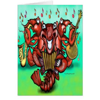 Cartão Banda dos lagostins