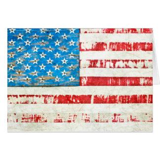 Cartão Bandeira americana desvanecida da glória