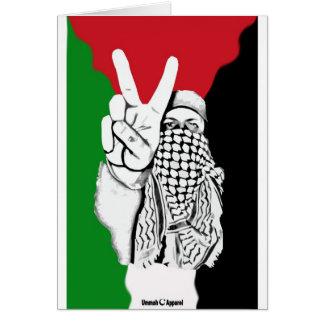 Cartão Bandeira da vitória de Palestina