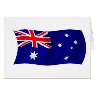 Cartão Bandeira de Austrália