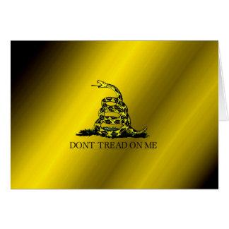 Cartão Bandeira de Gadsden