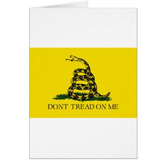 Cartão Bandeira de Gadsden - não pise em mim
