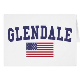 Cartão Bandeira de Glendale CA E.U.