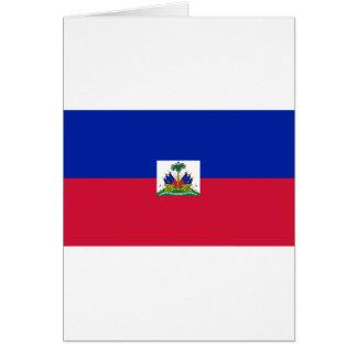 Cartão Bandeira de Haiti