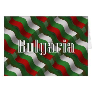 Cartão Bandeira de ondulação de Bulgária