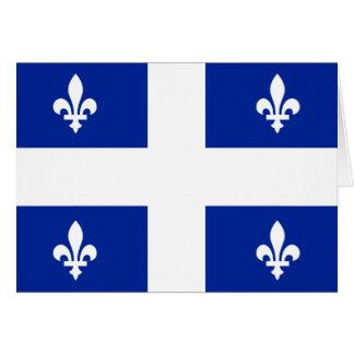 Cartão Bandeira de Quebeque