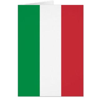 Cartão Bandeira italiana - bandeira de Italia - Italia
