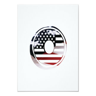 Cartão Bandeira patriótica dos EUA da inicial do