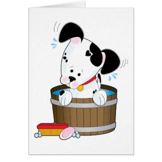 Cartão Banho do cachorrinho