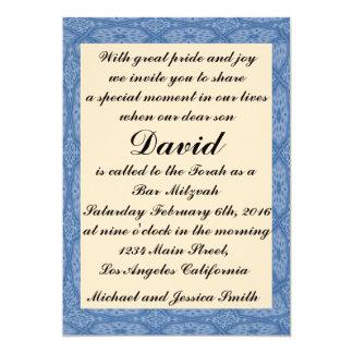 Cartão Bar azul Mitzvah dos diamantes/convite do