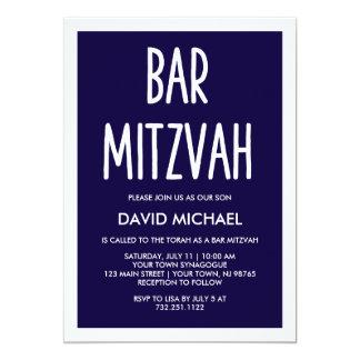 Cartão Bar moderno simples Mitzvah da tipografia dos