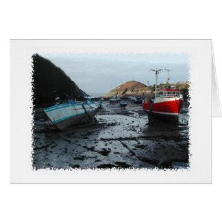 Cartão Barcos. Watermouth, Devon, Reino Unido