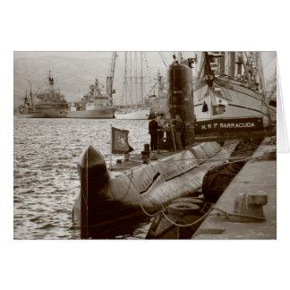 Cartão Barracuda português do submarino NRP