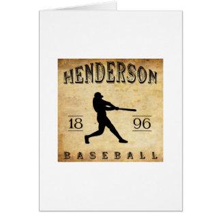 Cartão Basebol 1896 de Henderson Kentucky