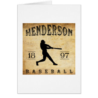 Cartão Basebol 1897 de Henderson Tennessee