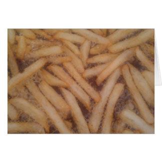 Cartão Batatas fritas deliciosas
