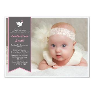 Cartão Batismo das meninas/convite do baptismo