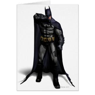 Cartão Batman que limpa sua testa