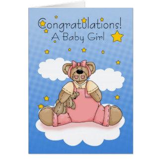 Cartão Bebé, bebê novo dos parabéns