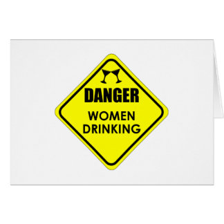 Cartão Beber das mulheres