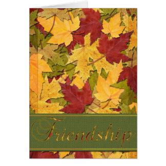 Cartão Beira do ouro da amizade