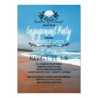 Cartão Beira-mar da festa de noivado   da praia