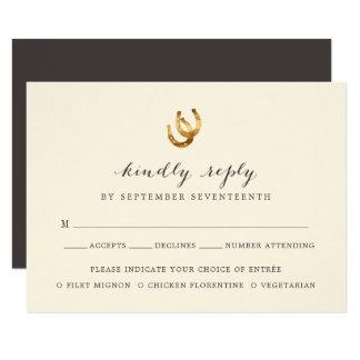 Cartão bem escolhido da refeição em ferradura RSVP