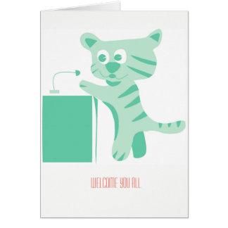 Cartão bem-vindo