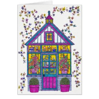 Cartão bem-vindo da casa