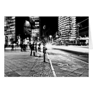 Cartão Berlim na noite