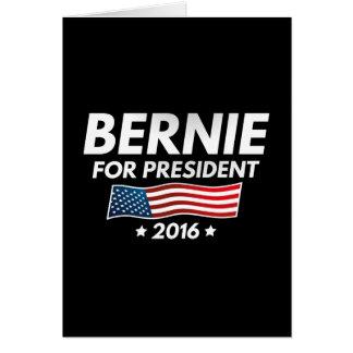 Cartão Bernie para o presidente