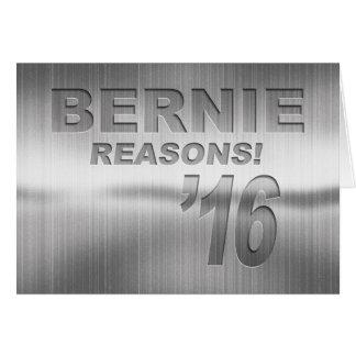 Cartão Bernie - razões! '16