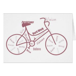 Cartão Bicicleta, ciclo, bicicleta, palavras inspiradores