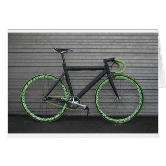 Cartão Bicicleta verde